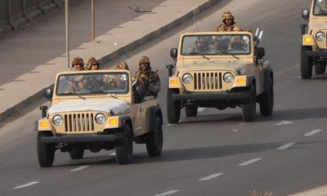 Military men in Tripoli. Image (original owner unknown) published on the Libyan Youth Movement's public Facebook page.