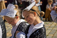 Young girls in Bretagne, France. By ghislainedarmor on Flickr (Creative Commons license)