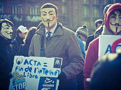 Ne ACTA - Strazburg. Fotografija Christophe Kaiser na Flickr, CC-license-BY