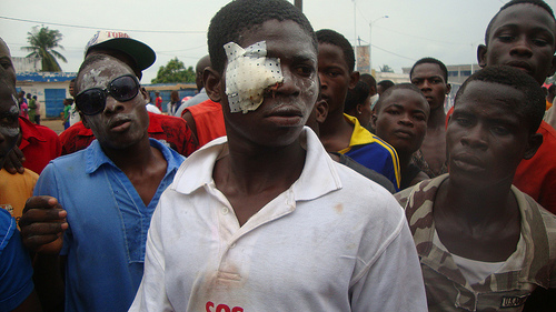 Repression of the demonstrations on June 13, 2012, by the 'Save Togo' collective. Used with permission