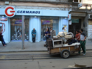 """Ironmongers leave"" Roma ironmongers, Sofia, Bulgaria. Photo by Philippe Garov on Flickr CC BY-NC-ND 2.0"