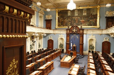 The Hall of the National Assembly of Quebec Parliament via Wikipédia CC-license-3.0.