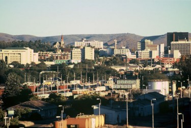 The capital city of Windhoek in Namibia by Bries on Wikipedia. License CC-Attribution-Share Alike 2.5.