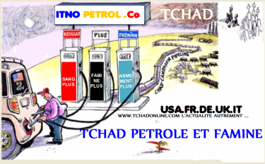 Cartoon on the impact of oil exploitation in Chad- via Tchadonline.com - Public Domain