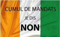"""Poster """" non au cumul des mandats"""" par Elie Nguan publié sur facebook"""