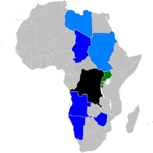 Countries directly or indirectly involved in Congolese Conflicts