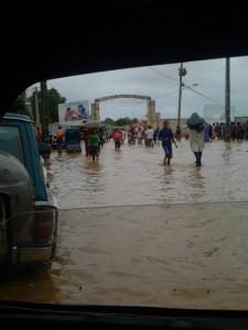 Inondations après le cyclone Haruna dans la ville de Tulèar - photo de Jan Marc Besse su facebook