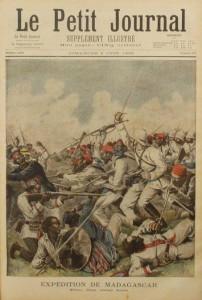 Illustration du Petit Journal sur la guerre coloniale à Madagascar