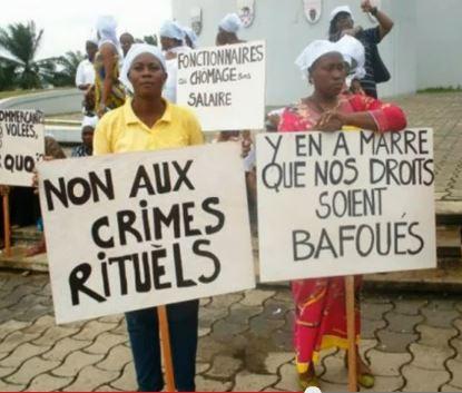 Manifestations contre les crimes rituels au Gabon - capture d'écran de la vidéo garenghem sur YouTube