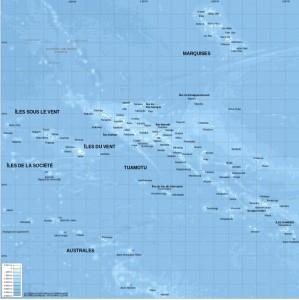 carte en relief de la Polynésie Française, par Sardon sur Wikimedia Commons, licence GNU