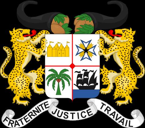 L'emblème du Bénin via wikipédia CC-BY-3.0