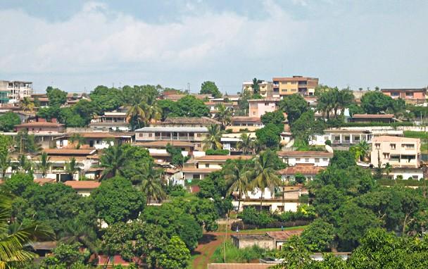 Vue sur Yaoundé, Capitale du Caméroun -Domaine public