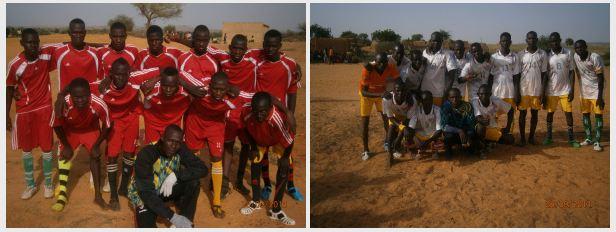 Tournoi de football dans le département de la Tahoua, Niger. avec la permission du projet mapping for Niger