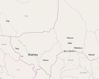 Le département de Tahoua, cartographié par le projet Mapping for Niger