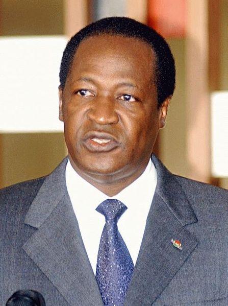 Blaise Compaoré, président du  Burkina Faso depuis 1987 via wikipédia CC-NC-BY