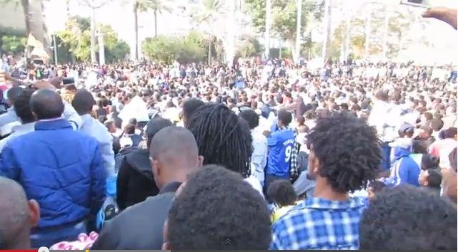 La grève des immigrés africains  à Tel-Aviv