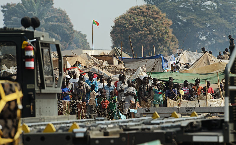 Refugees of the fighting in the Central African Republic via wikipédia Public Domain