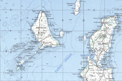 Carte de L'ile de Bantayan - Domain public