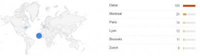 """Les villes ayant recherché le mot """"impérialisme"""" le plus souvent - via Google Trends"""