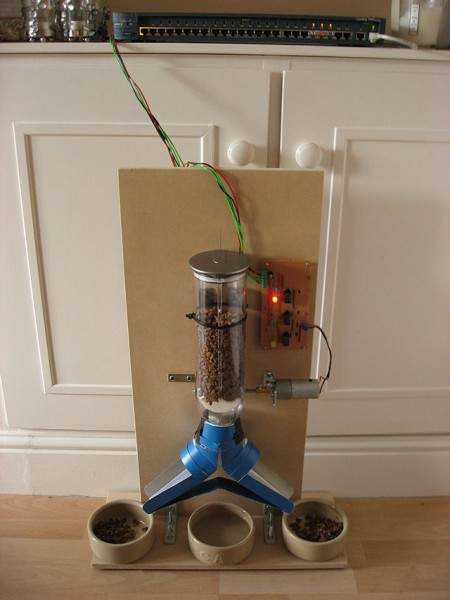 A feeder for house cats controlled by internet in a home CC BY 3.0