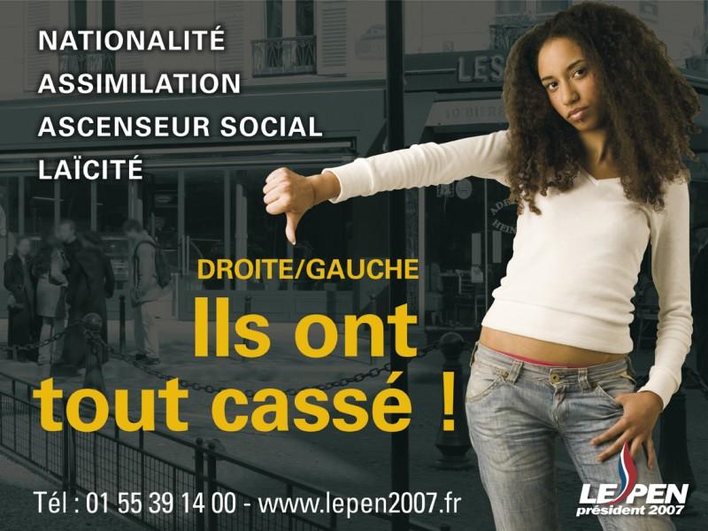 Affiche de campagne du Front National en 2007 - Domaine public