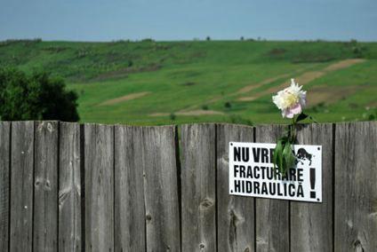 """""""Nous ne voulons pas de fracturation hydraulique"""". (Crédit photo : Carole Blanchard)"""