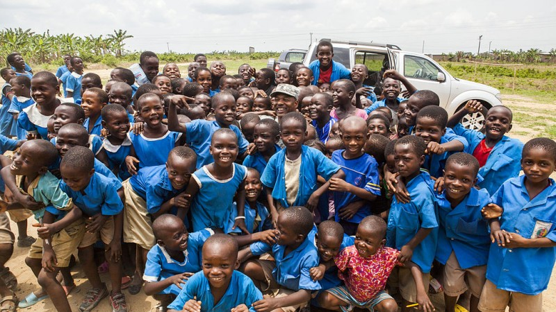 Ecoliers au Cameroun - Domaine public