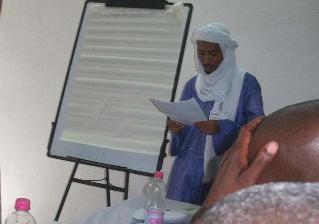 Un participant del taller Viure Junts a Tombuctú, Mali – imatge de l'autora.