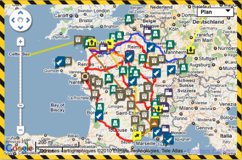 La carte de France du nucléaire - via Greenpeace