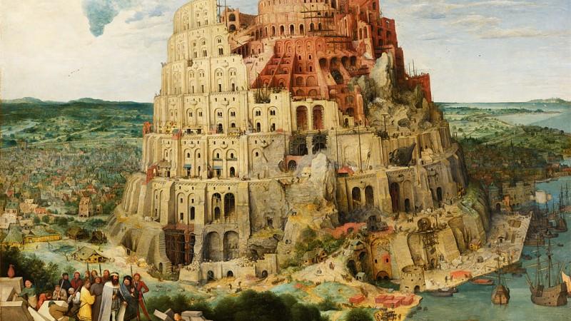 La tour de Babel vue par Pieter Brueghel l'Ancien CC-BY-20