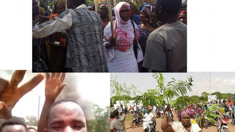 Images  des manifestations au Burkina Faso (sources diverses sur Facebook)