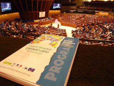 Forum Mondial de la Démocratie à Strasbourg (Photo Marie Bohner)
