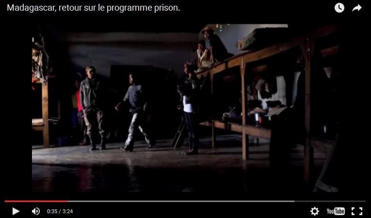 Capture d'écran de la vidéo de Médecins du Monde sur les prisons à Madagascar via Youtube