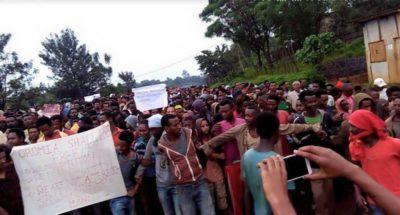Manifestation en Ethiopie - Page Facebook de Abdi Lemessa. Utilisé avec permission