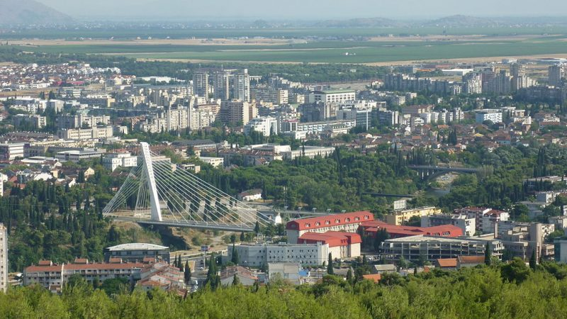 Vue générale de Podgorica. CC-BY-20