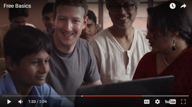 Capture d'écran de la vidéo présentant Free Basics sur YouTube. Via internet.org