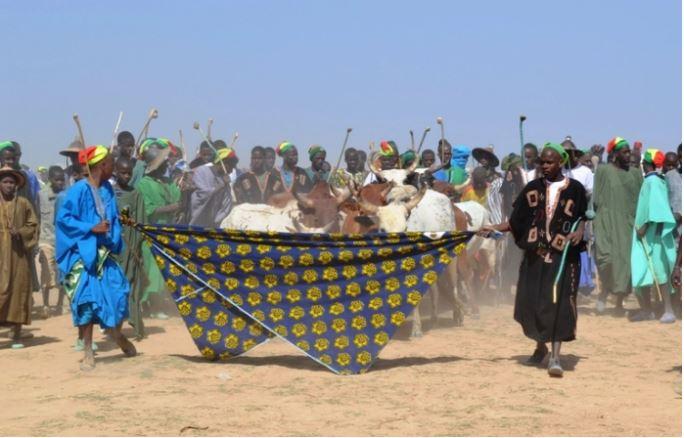 Jeunes peuls entrant dans le village pendant la cérémonie du Yaral - avec la permission de l'auteur
