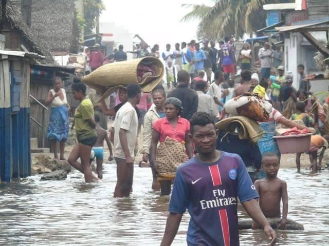 Résidents de Toamasina évacués