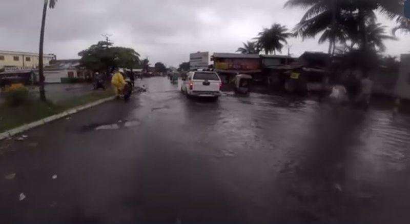 Capture d'écran d'une vidéo de la ville de Toamasina après le cyclone Ava via Africa News