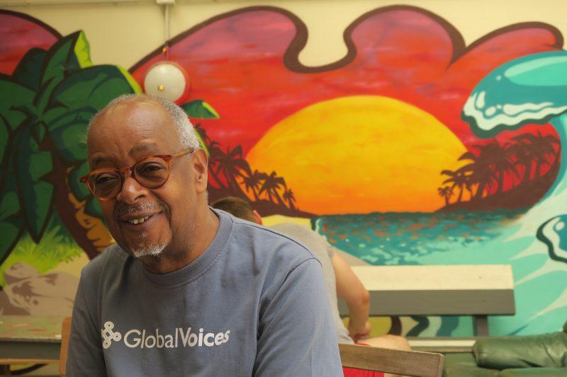 Abdoulaye, le plus photogénique de tous les GVers (Photo Marie Bohner)