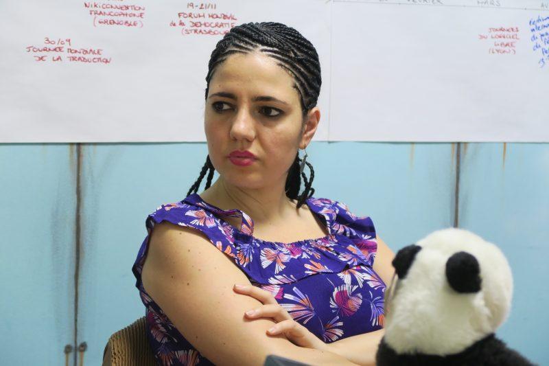 Thalia, jamais sans son panda (Photo Marie Bohner)