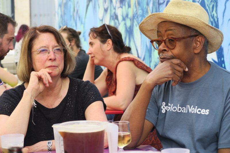 Suzanne et Abdoulaye, dubitatifs (Photo Marie Bohner)