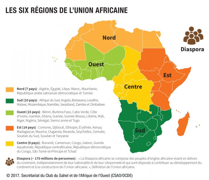 carte Union Africaine