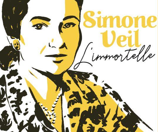 """Couverture du prochain roman graphique """"Simone Veil, L'immortelle"""" par Pascal Bresson"""