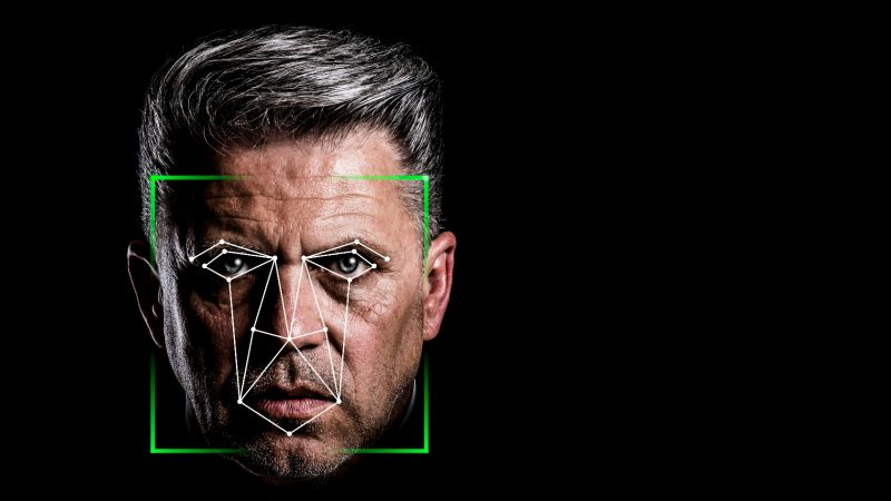 Facial recognition technology analyses the structure of faces to allow identification of individuals.